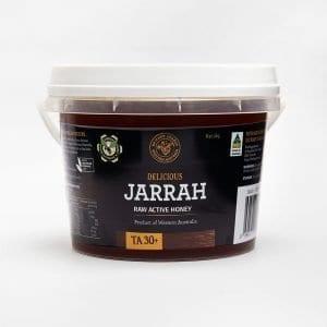 BeeHappy Certified Organic Raw Jarrah Honey, T/A 30+