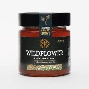 BeeHappy Certified Organic Raw Wildflower Honey