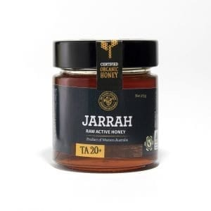 BeeHappy Certified Organic Raw Jarrah Honey T/A 20+